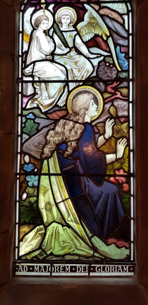The fully restored stained glass at St Mary Magdalen