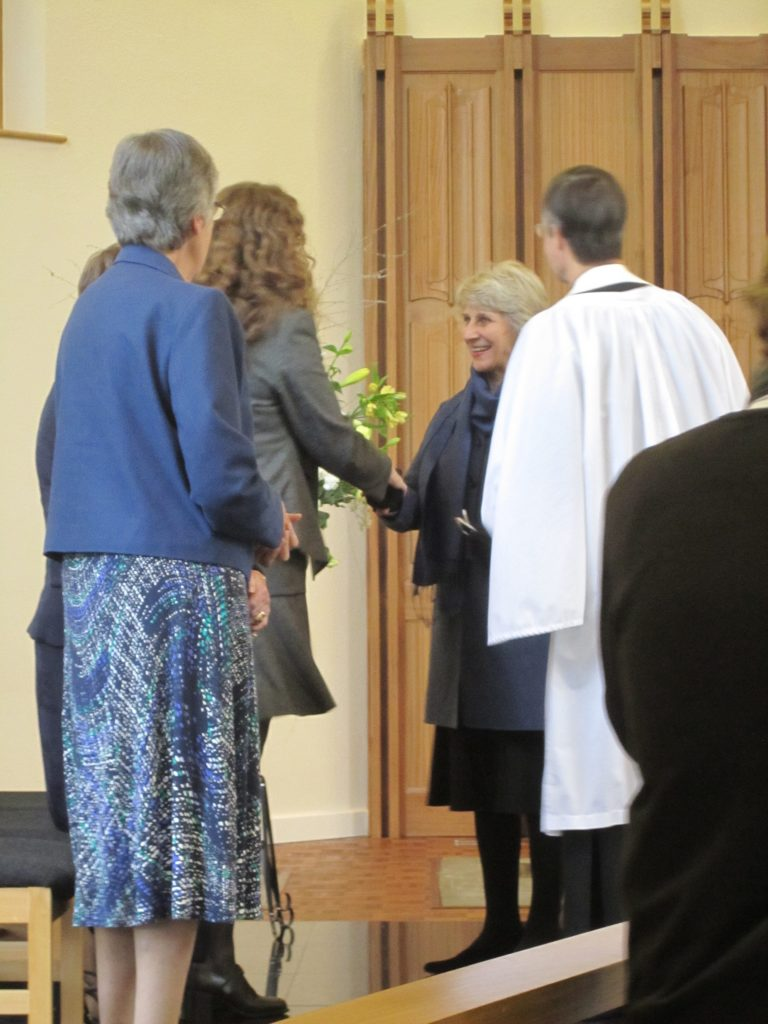 Meeting the Duchess of Gloucester at the opening of the Wyggeston hopital windows.