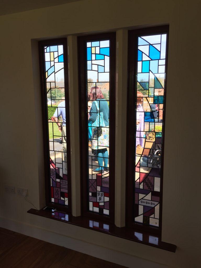 A set of three triple glazed windows for Retford Almshouse
