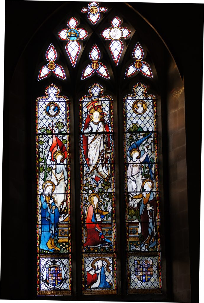 Fully restored stained glass windows