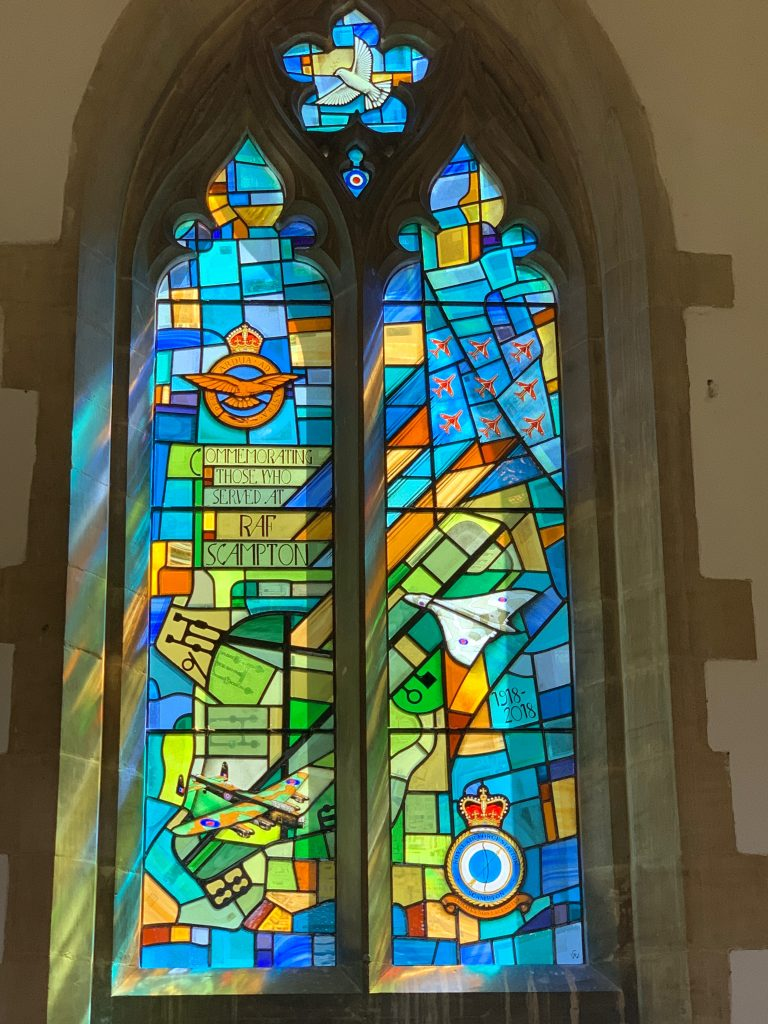 New stained glass windows for The church near RAF Scampton