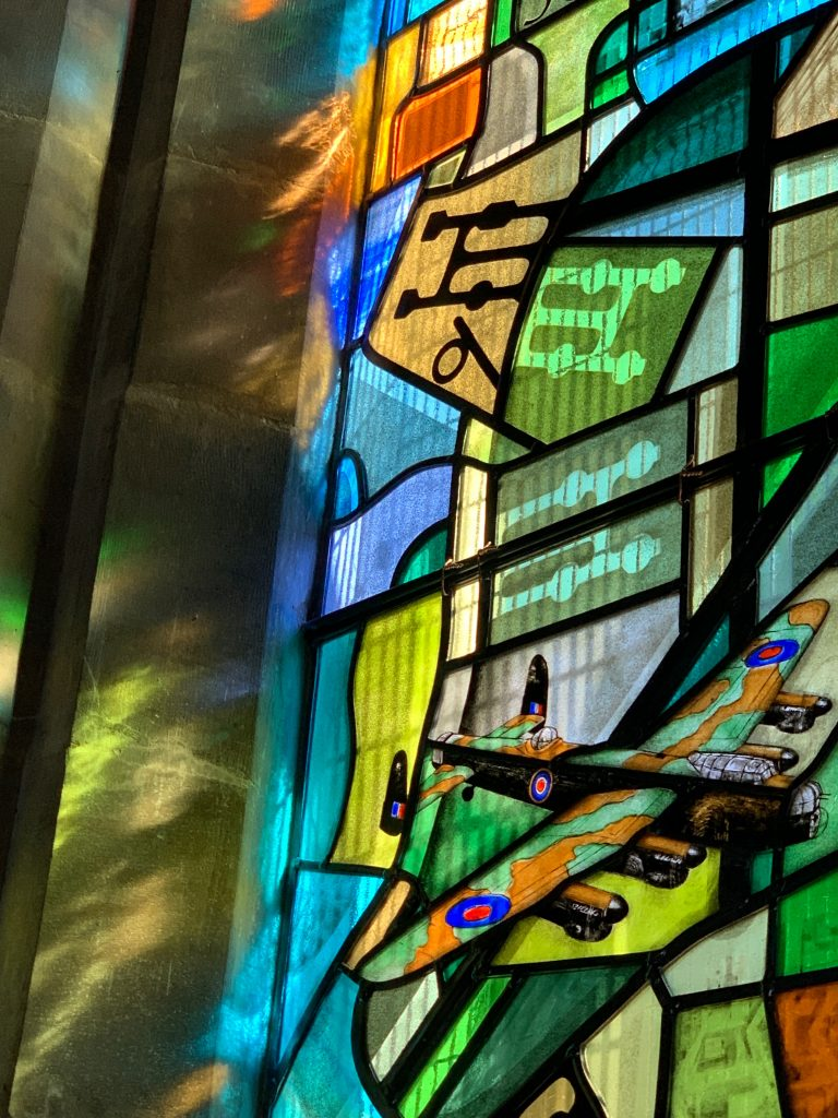 Scampton church stained glass windows