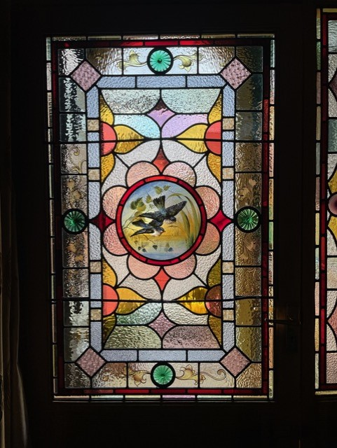 Fully restored stained glass wondow